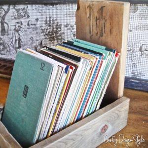 farmhouse file box