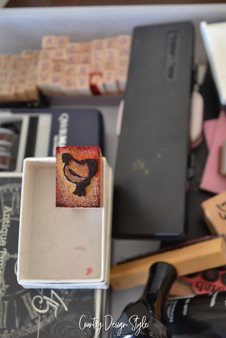 little red hen rubber stamp