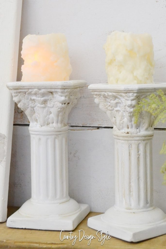How to makeover updated gold candleholders after