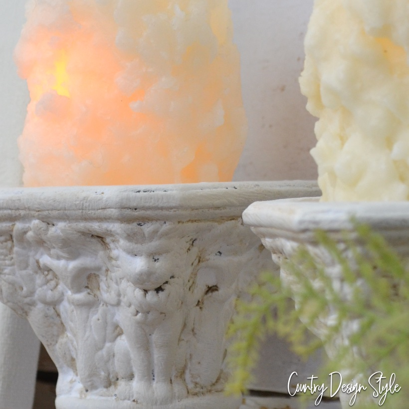 Thrift store candleholders updated