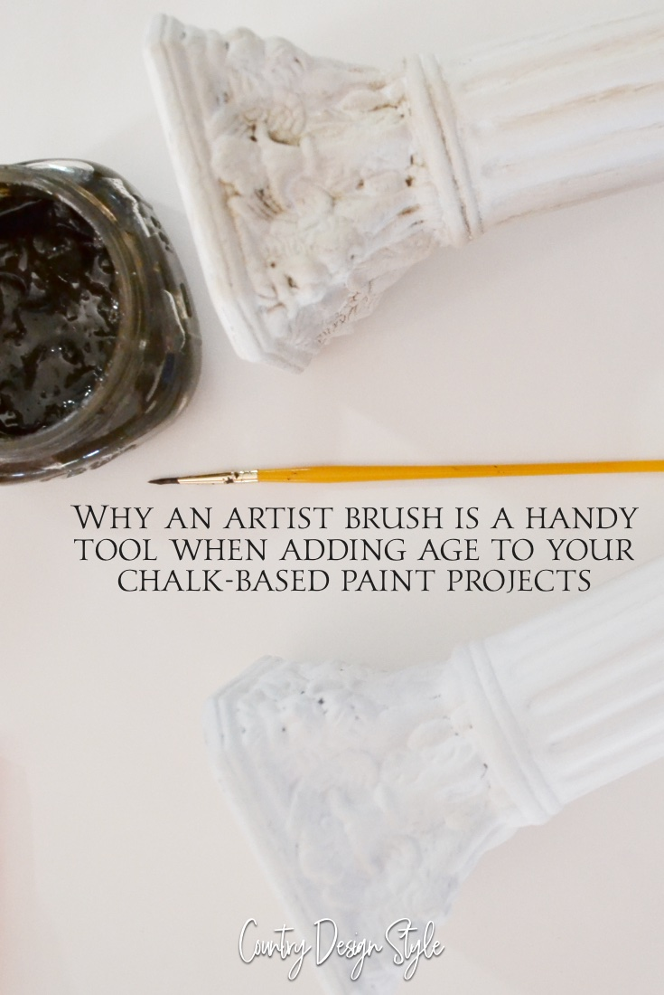 Using an artist brush to age paint