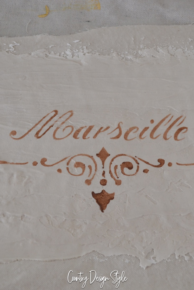 stencil for vintage country french sign