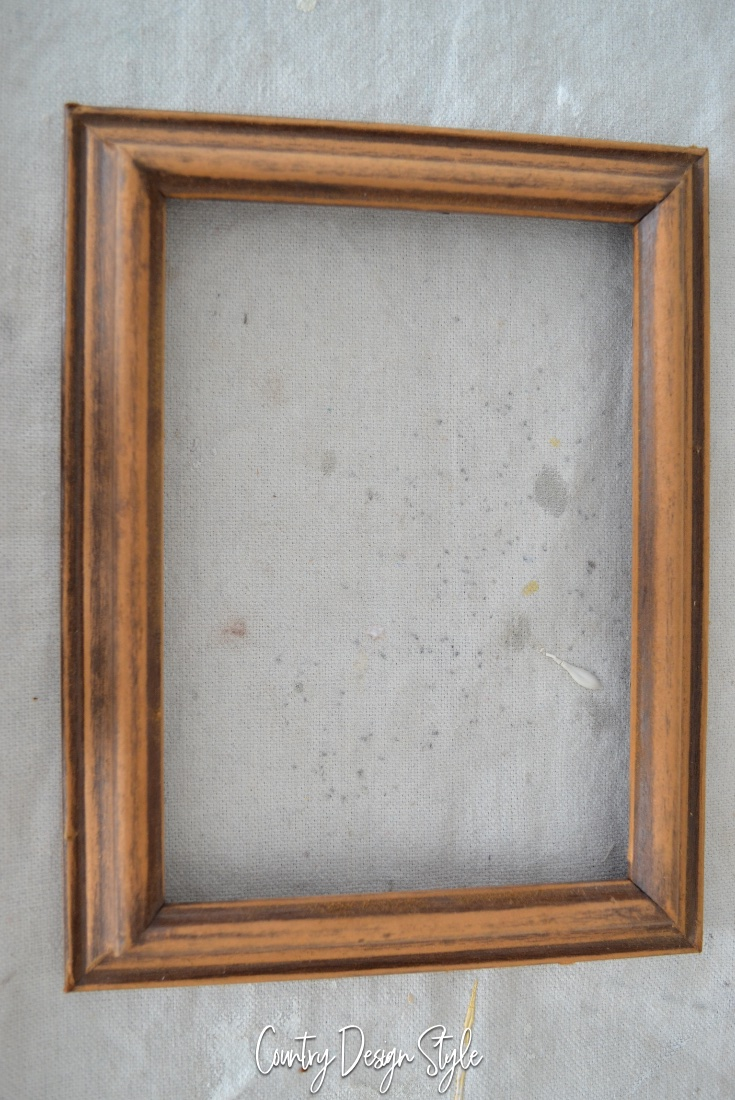 thrift store frame for vintage country french sign