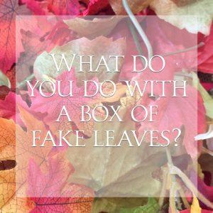 Decorative leaves Fake falling leaves