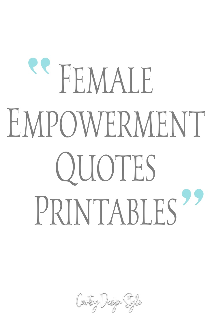 Female Empowerment Quotes printable