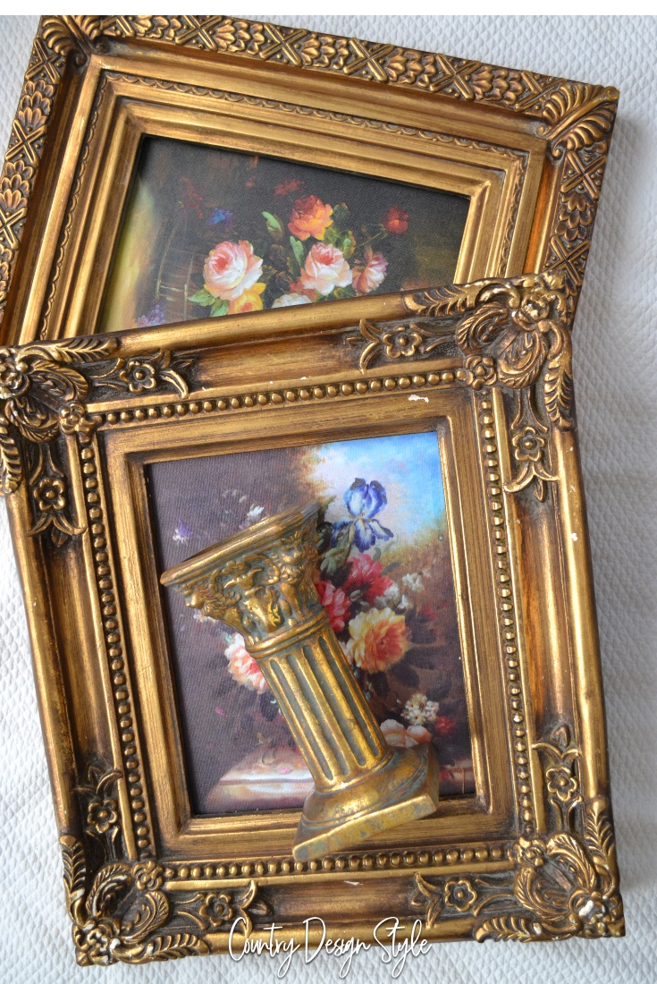Gold Frames and candlestick