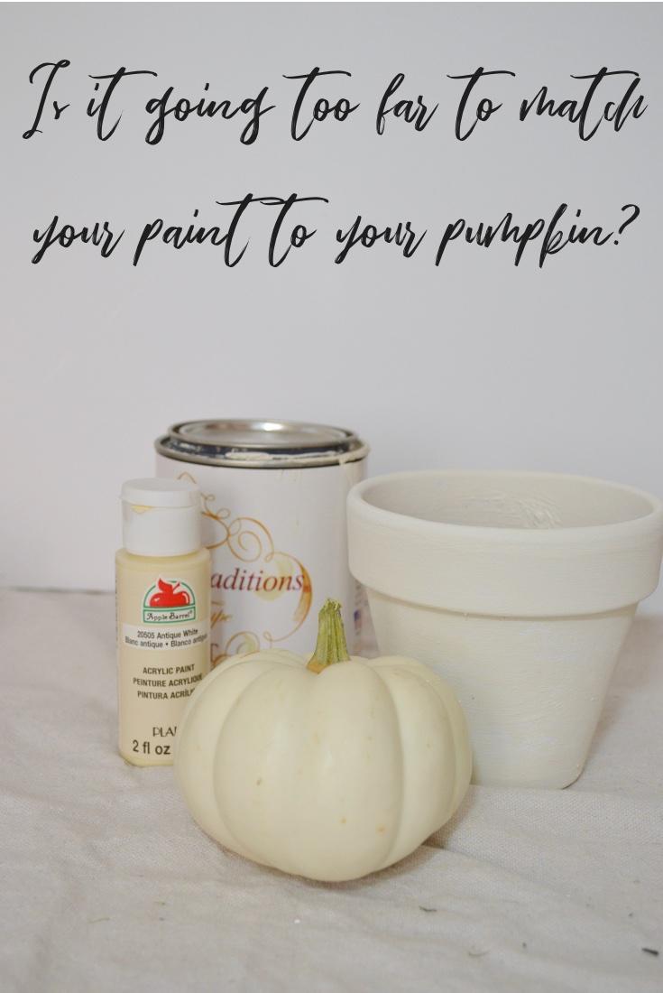 Match paint to Pumpkin Decor