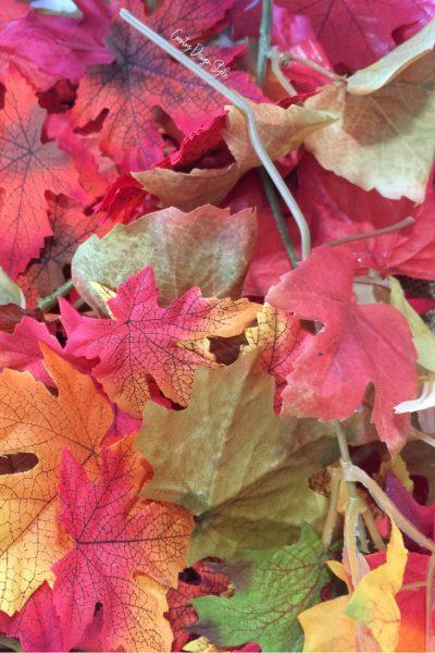 Dramatic Fall idea using Decorative Leaves