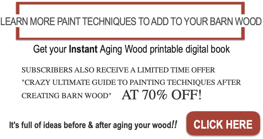 Aging wood ad insert no images