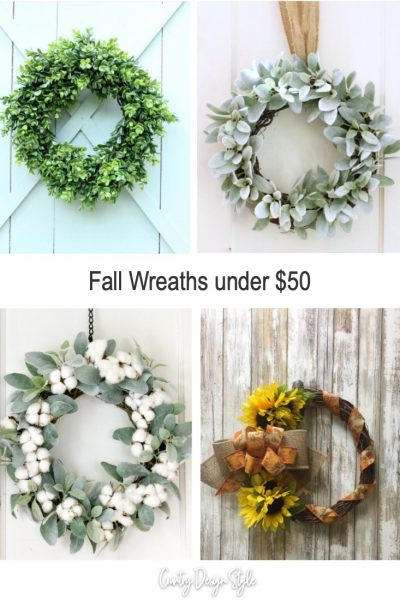 Fall Wreaths under $50 that I love