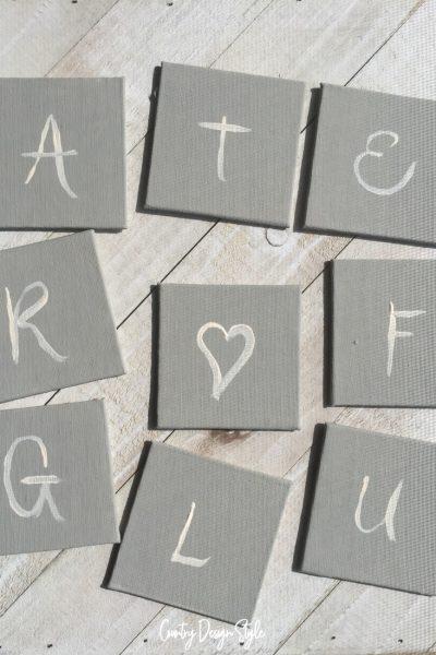 Lettering for grateful heart