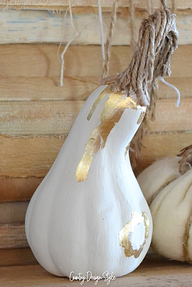 Painted gourd goes from faux to gold