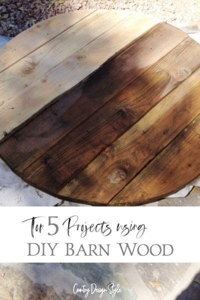 Top 5 ideas for you to make using DIY barn wood