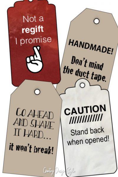 Funny printable gift tags pin