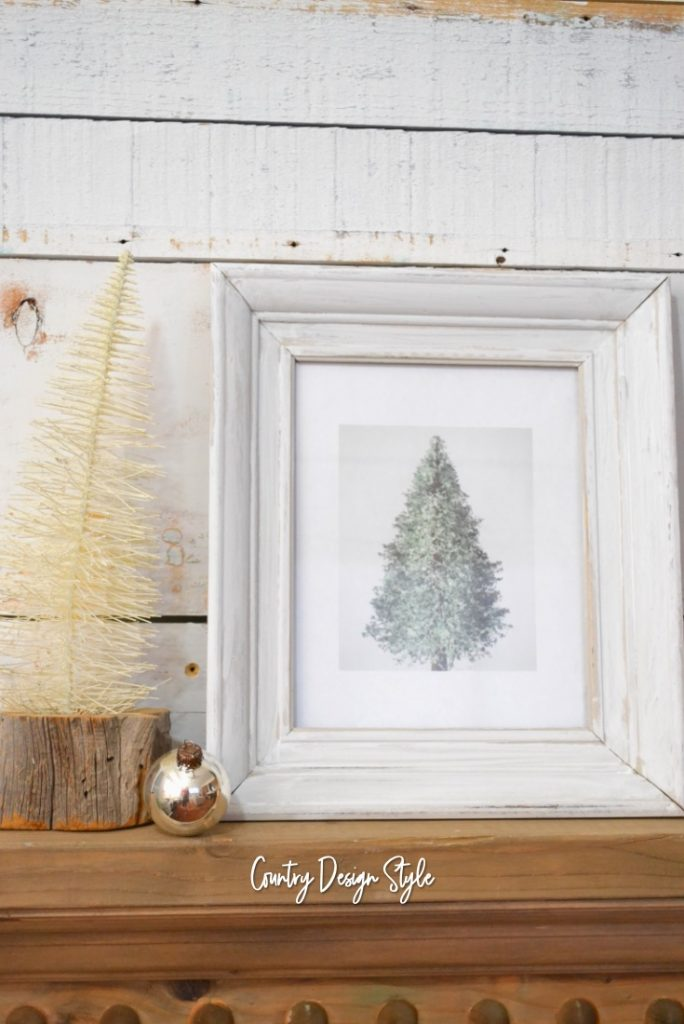 Pine Tree Picture Printable with bottle brush tree