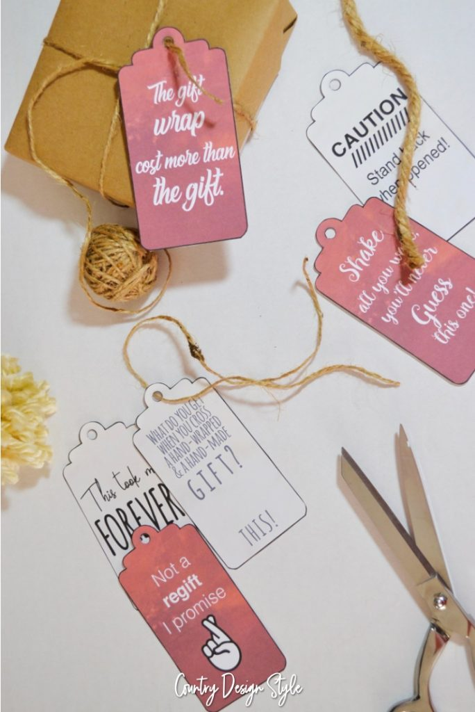 Printable Gift Tags for Pinning