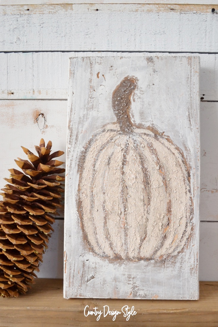 Sea Salt paint pumpkin