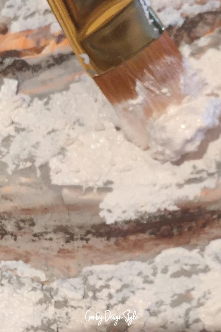 Sea Salted paint lumpy paint