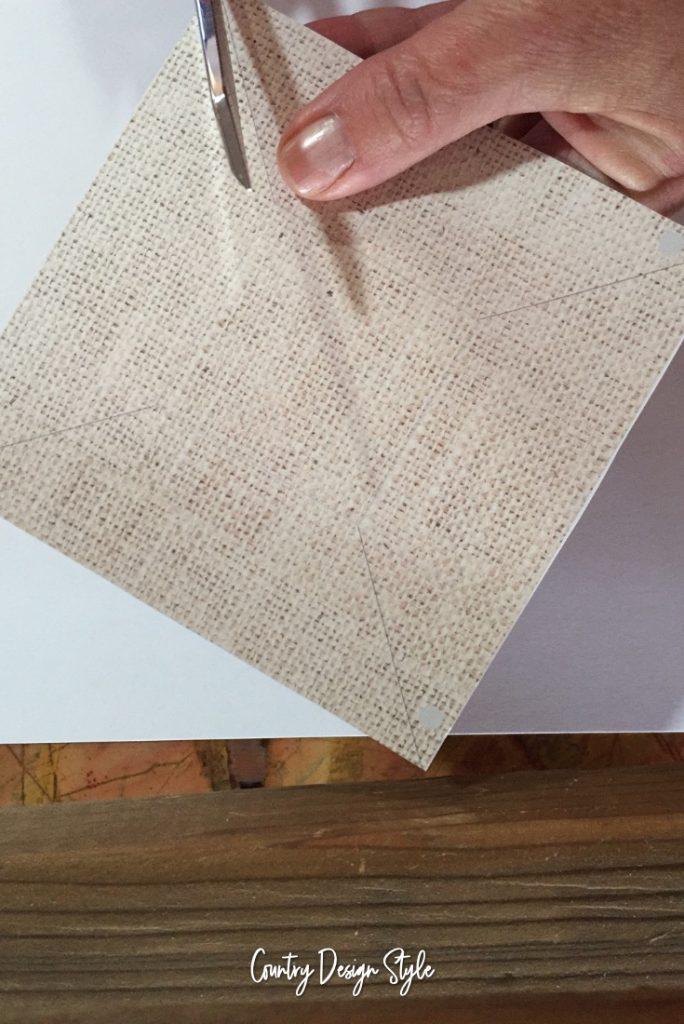 Cutting Paper Pinwheel Ornaments