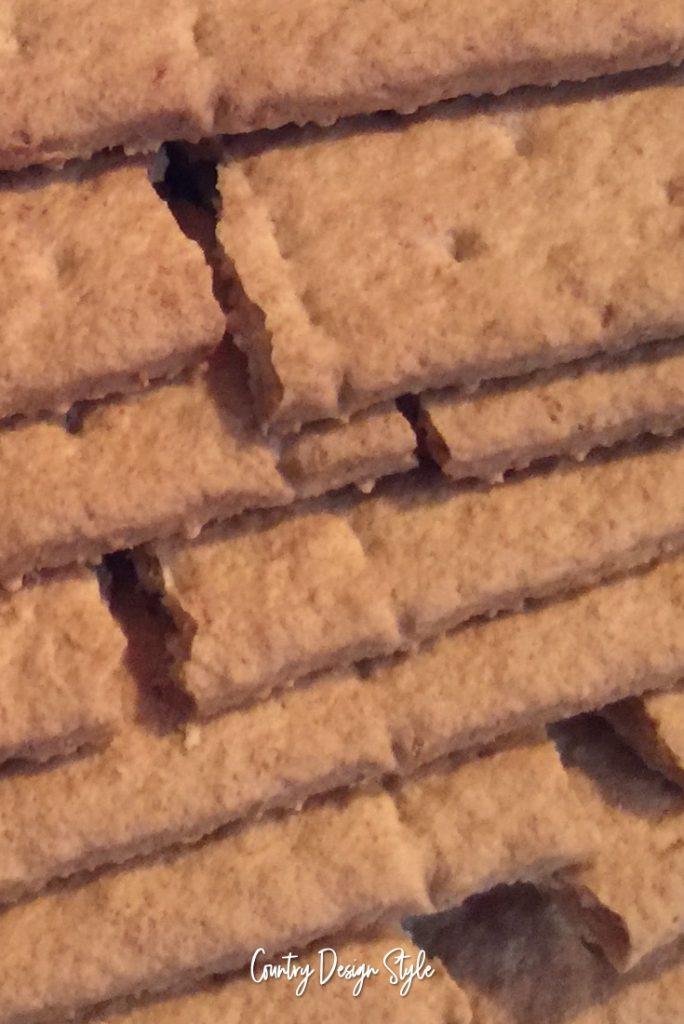 Graham Cracker Gingerbread House crumbles