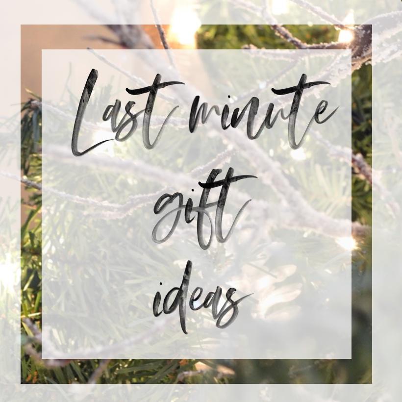 Last Minute Gift Ideas sq