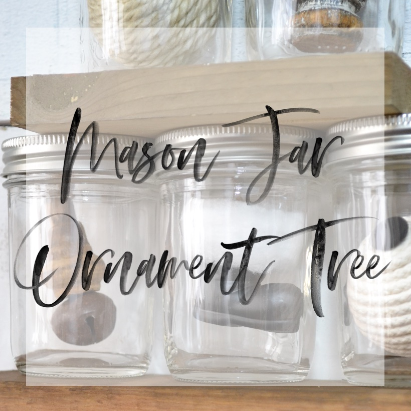 Mason Jar Ornament Tree
