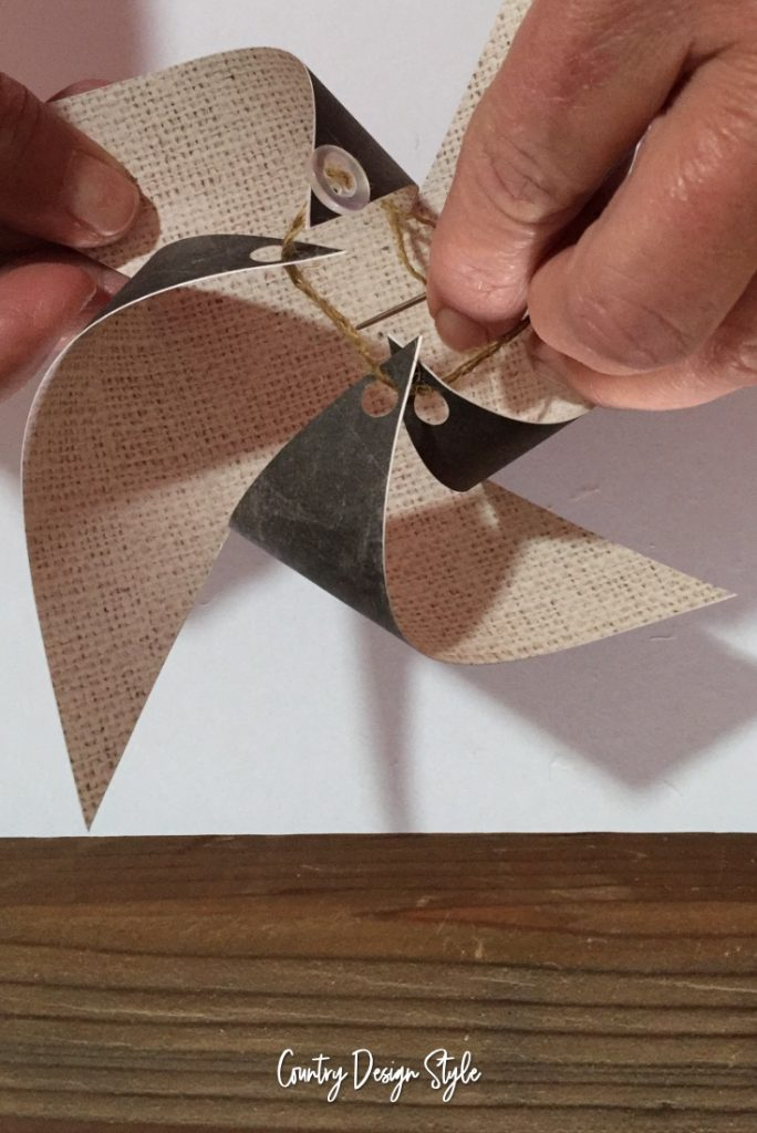 Pulling if together Paper Pinwheel Ornaments