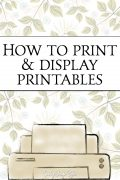 How to display printables