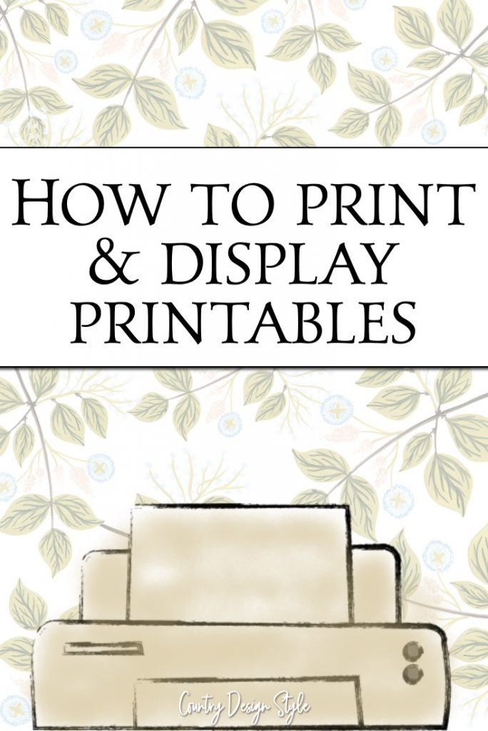 How to display printables