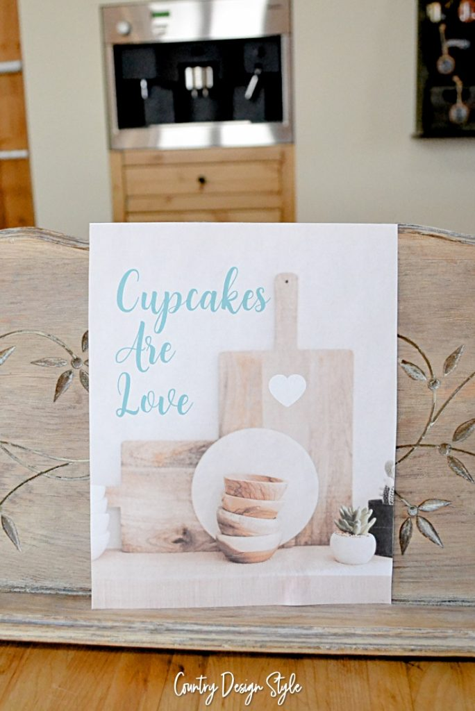 How to display printables cupcake