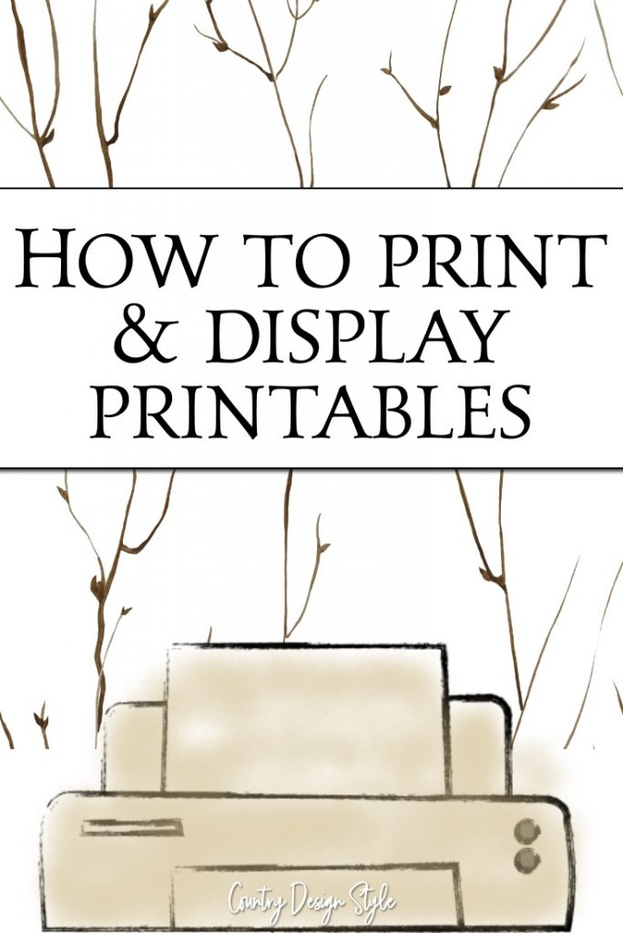 How to display printables twigs
