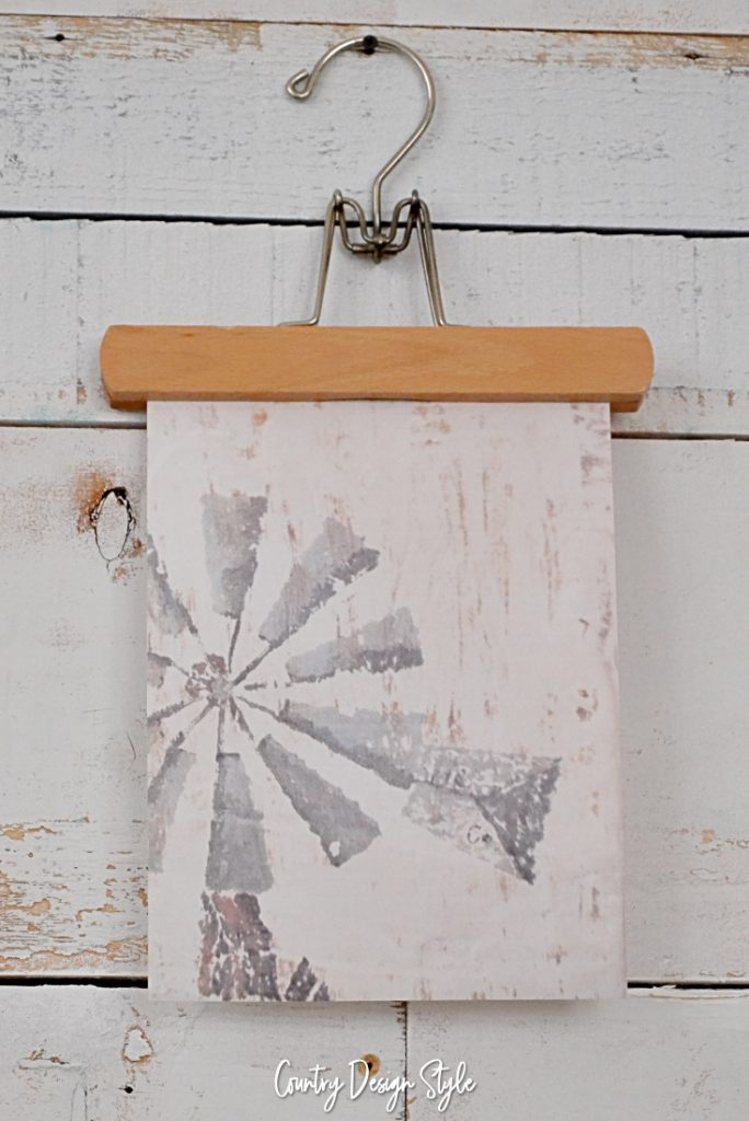 How to display printables windmill