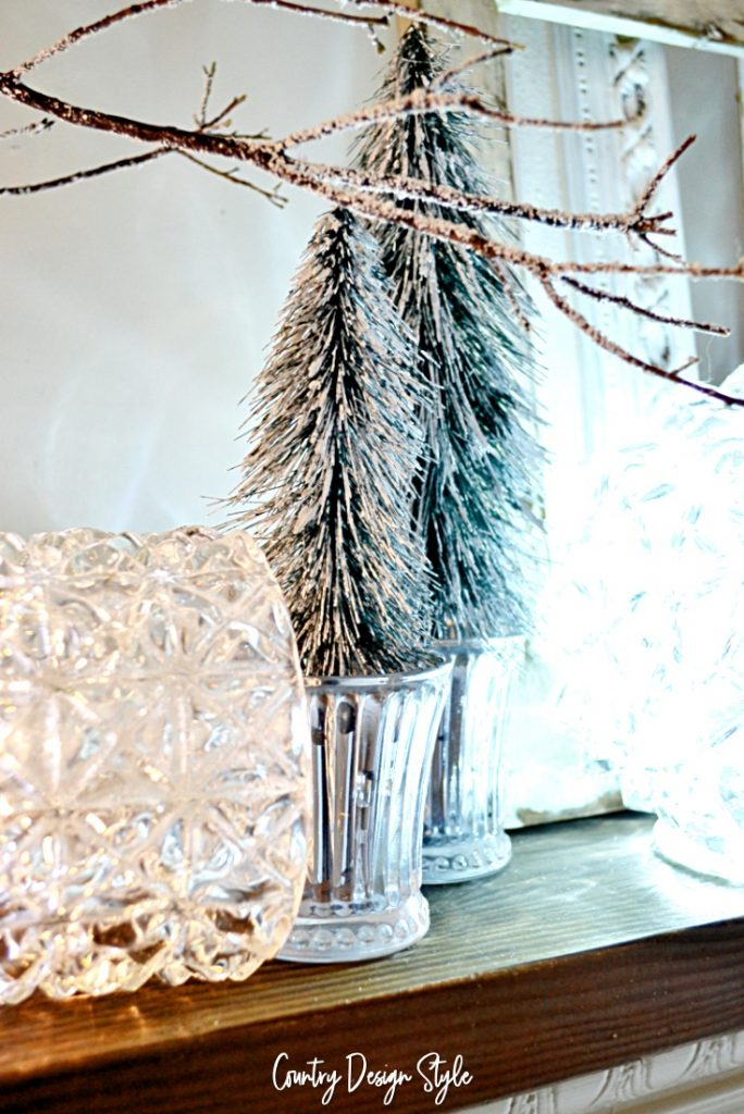 battery operated lights and icicle branches