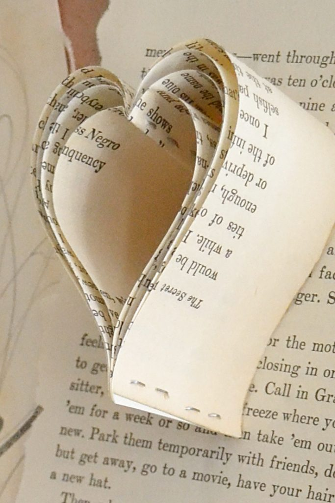 book page art closeup heart