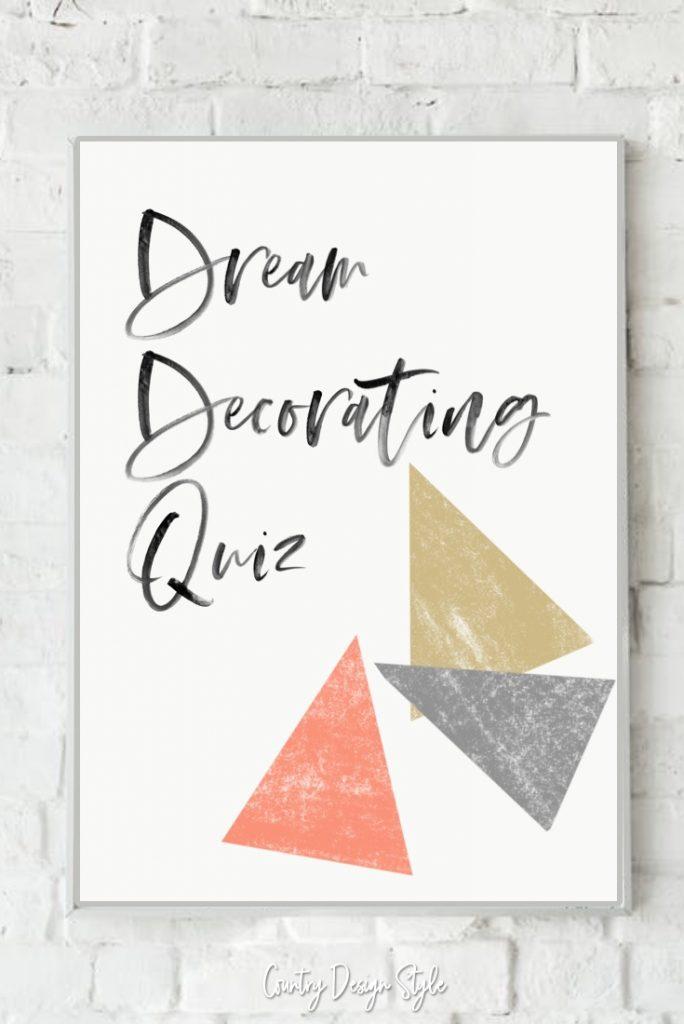 Dream decorating quiz