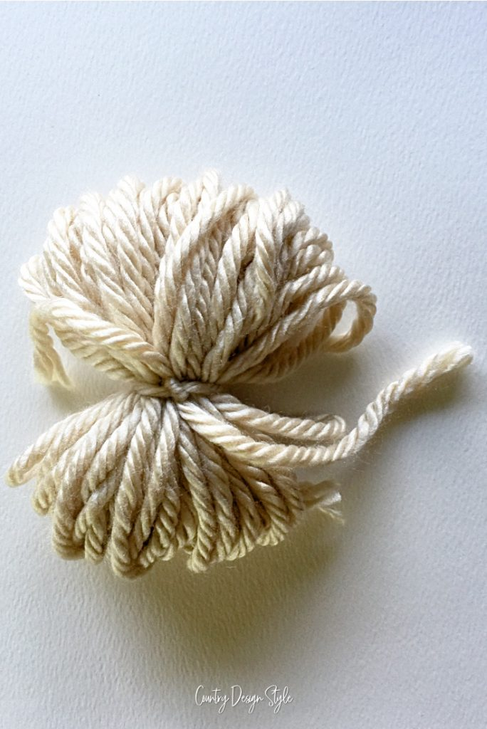 tight middle knot in yarn