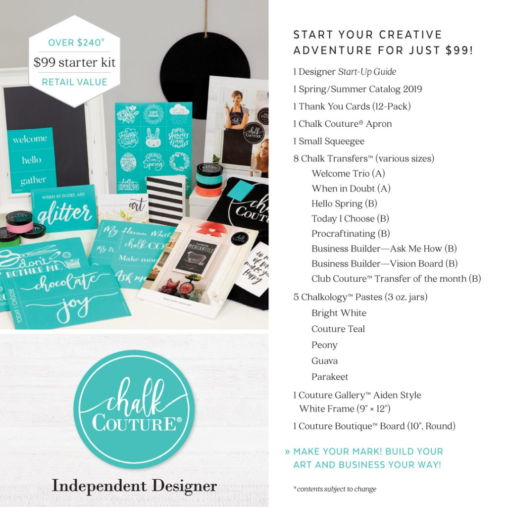Chalk Couture designer starter kit