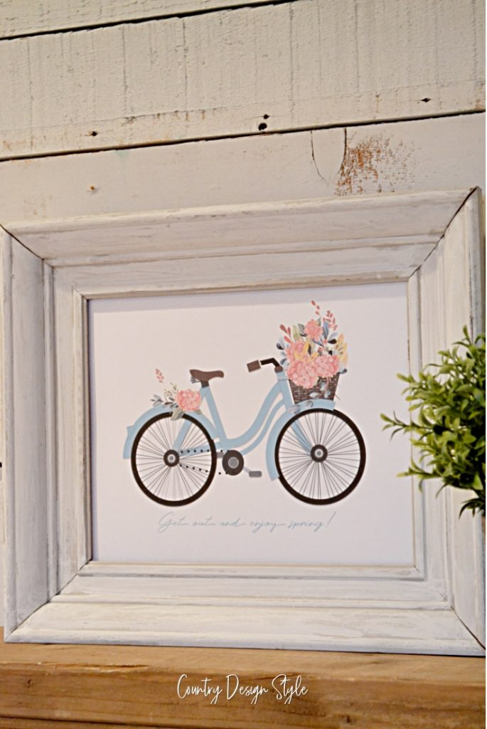 Bike Printable with flowers