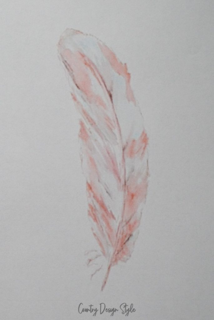 feather on copy paper