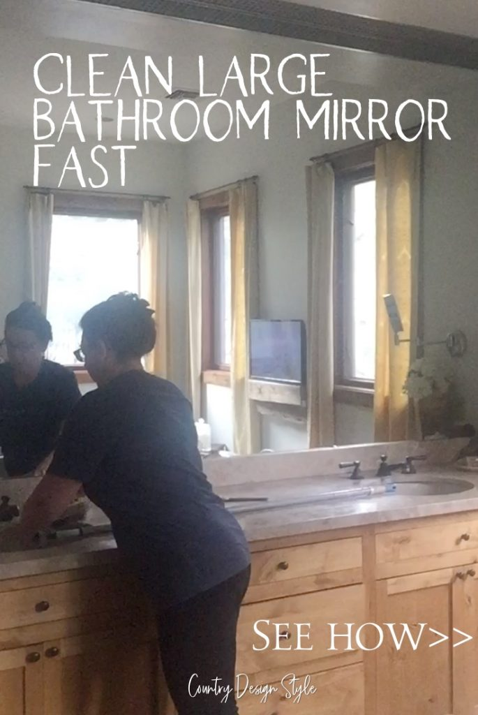 Bathroom mirror fast