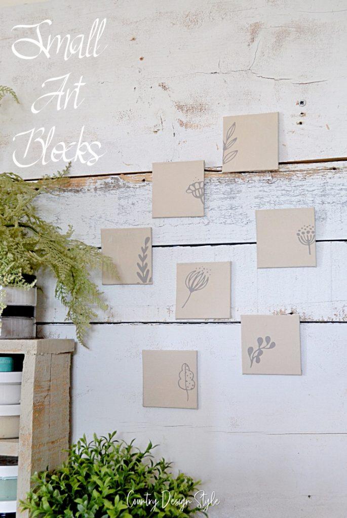 Small art blocks