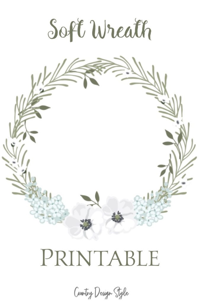 photograph relating to Printable Wreath named Be Type Printable - Region Layout Style and design