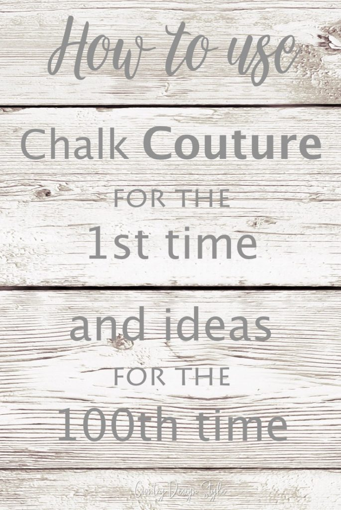 Using Chalk Couture