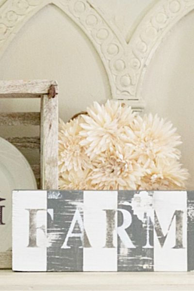 Vintage decor inspired farmhouse sign