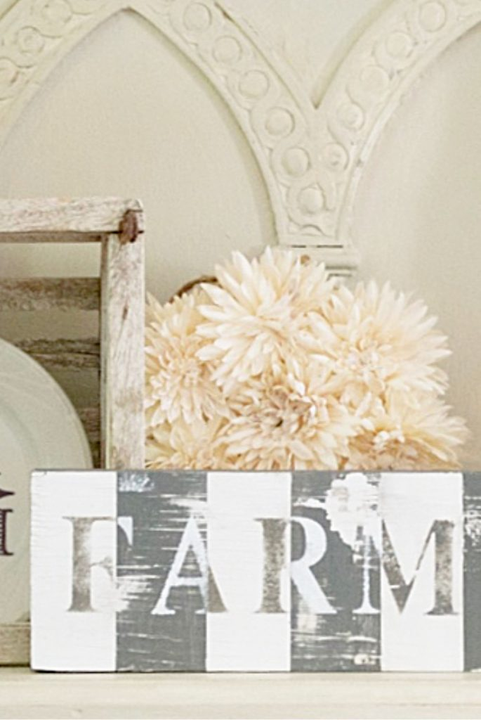 Vintage decor inspired farmhouse sign