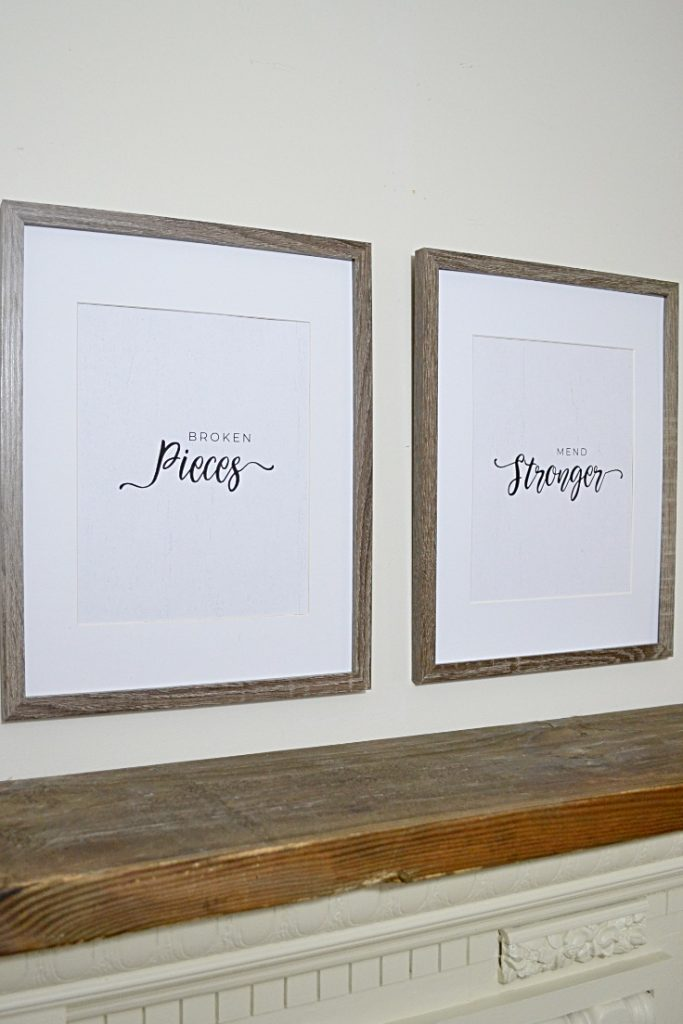 Two frame with farmhouse style text