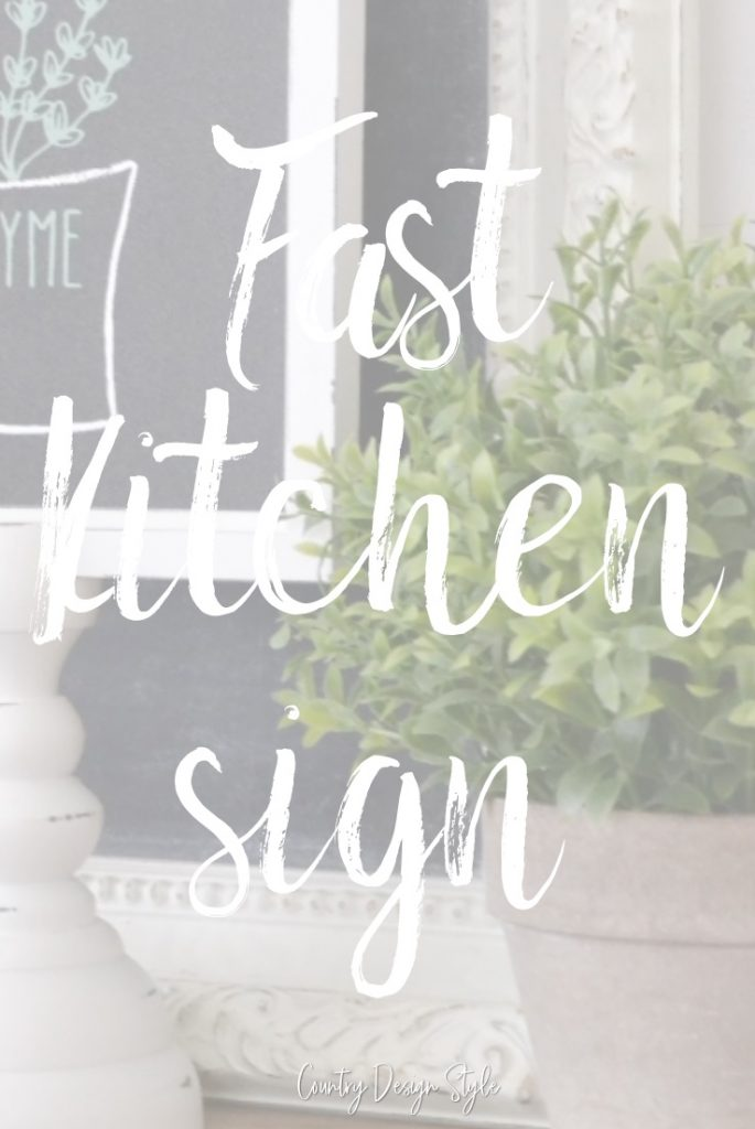 Fast kitchen sign with text overlay