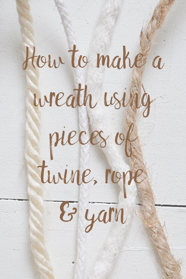 Cream yarn, white clothesline, white cording, twine rope.