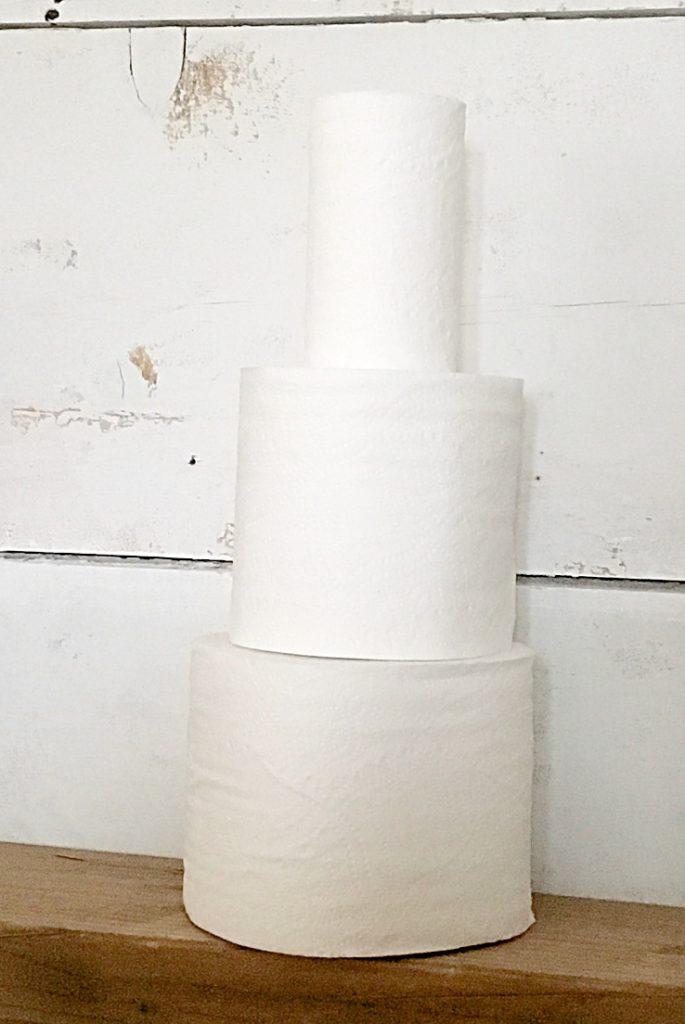three rolls stacked