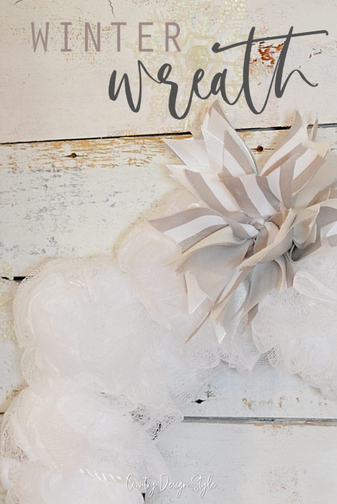 Close up of bow on wreath